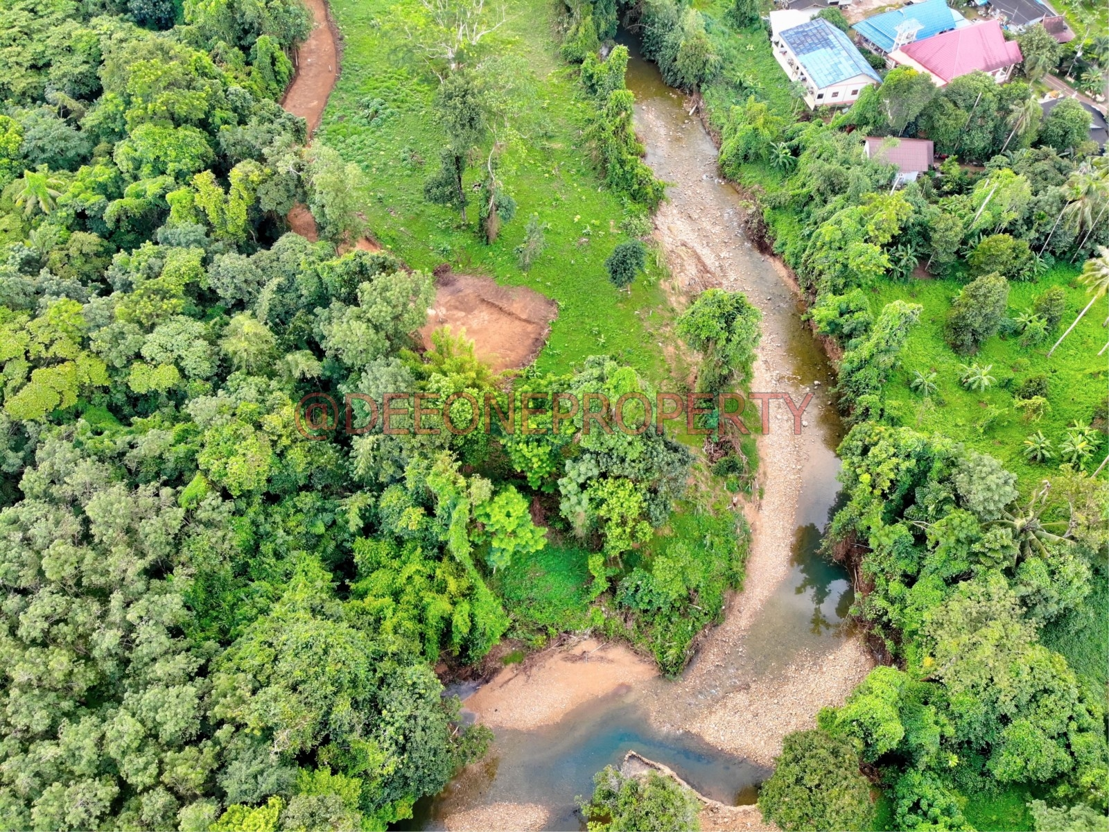 Many Riverside Land Plots for Sale – North East Coast, Koh Chang